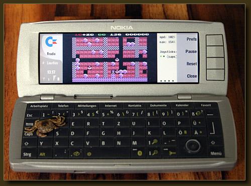Nokia Communicator 9500 mit Frodo C64 Emu