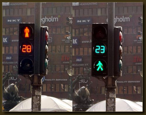 Fußgängerampel Kopenhagen