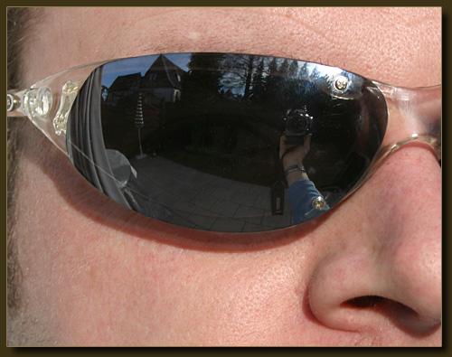 Sonnenbrillenreflektion