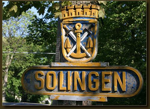 Altes Solinger Ortsschild