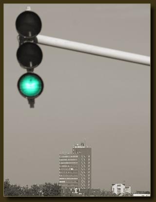 Turmhotel - grünes Licht für die Sprengung.