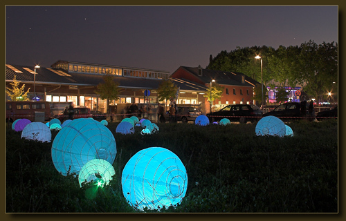 Solinger Südpark zur blauen Stunde