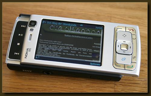 Nokia N95 - dem Herrn Olsen sein neues Spielzeug