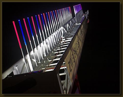 LED-beleuchtete Feuerleiter