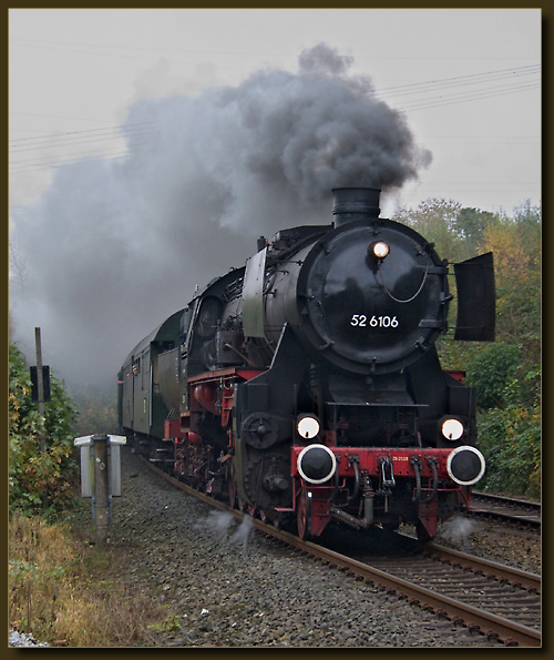 Dampflok der Baureihe 52