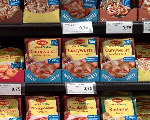 Currywurst Fertigzeugs