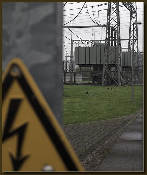 Vorsicht Hochspannung - Umspannwerk Halfeshof, Solingen