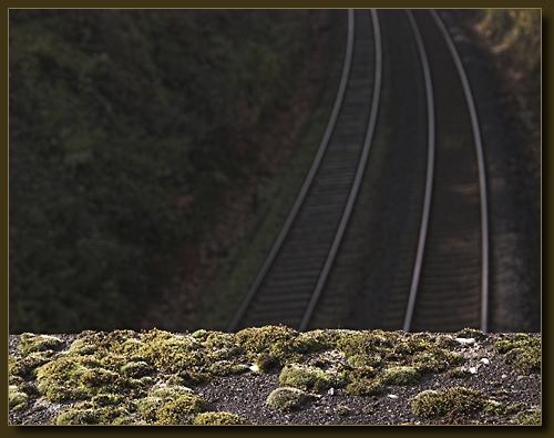 Blick von der Eisenbahnbrücke beim Halfeshof Richtung Meigen