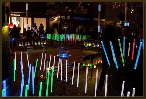 LED-Beleuchtung am Fronhof. (Klick vergrößert)