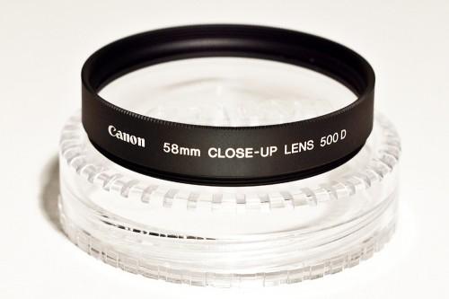 Achromatische Nahlinse 500 D von Canon