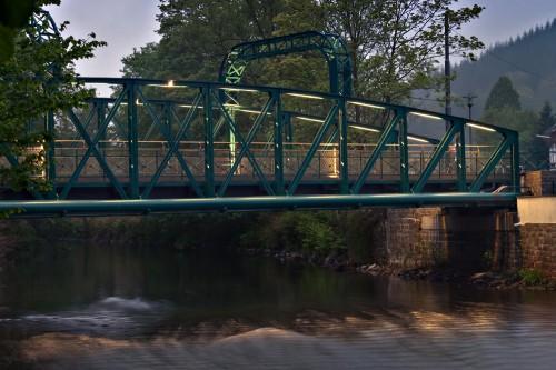 Kohlfurther Brücke vom Solinger Wupperufer