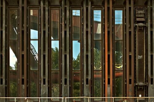 Spiegelungen in Koksöfen in der Kokerei Zollverein