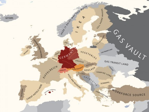 Europe According to Germany (c) Yanko Tsvetkov