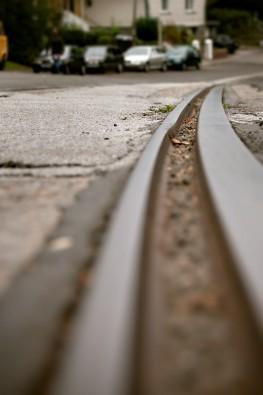Schienenfragment der Solinger Straßenbahn Linie 5