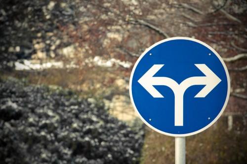 Rechts oder links? Kein Mittelweg.