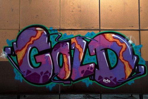 Graffito Gold Solingen Piece